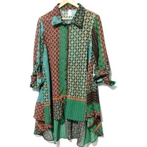 Live 4 Truth Mixed Patch Hi Low Blouse
